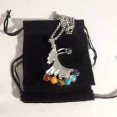 Crystal Chakra Angel Necklace