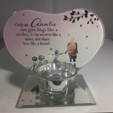 Only an Auntie Glass Plaque