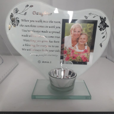 Daughter Glass Plaque/Photo Frame