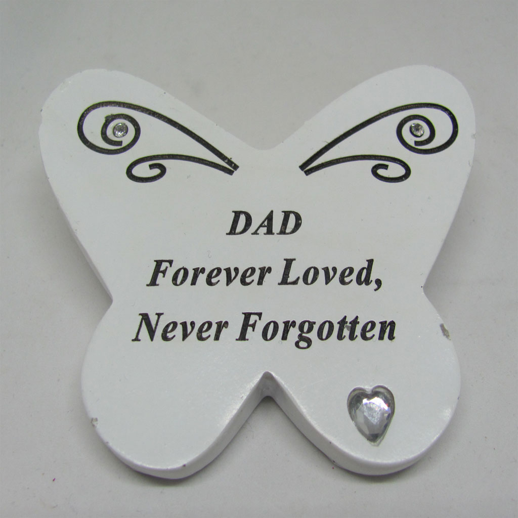 Small Butterfly Grave Plaque Dad