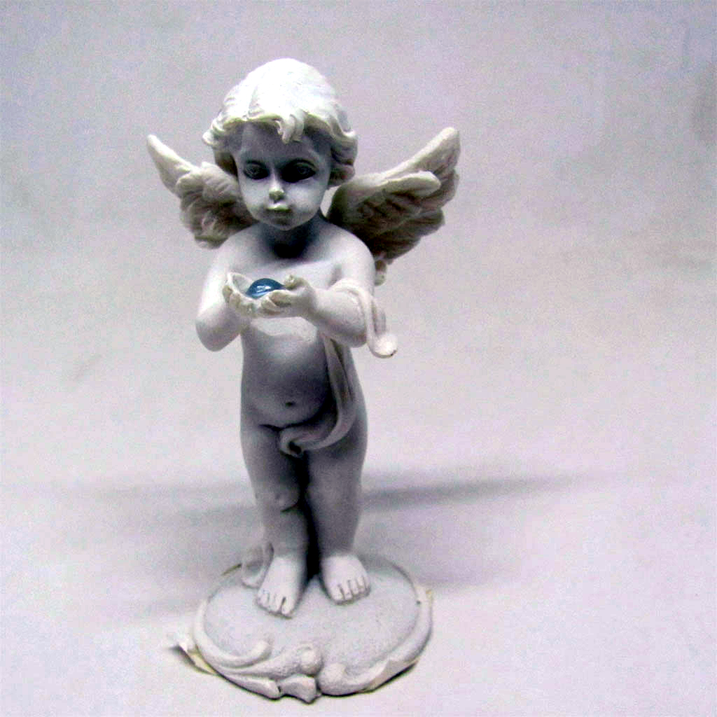 Angel Holding an Opalite Crystal