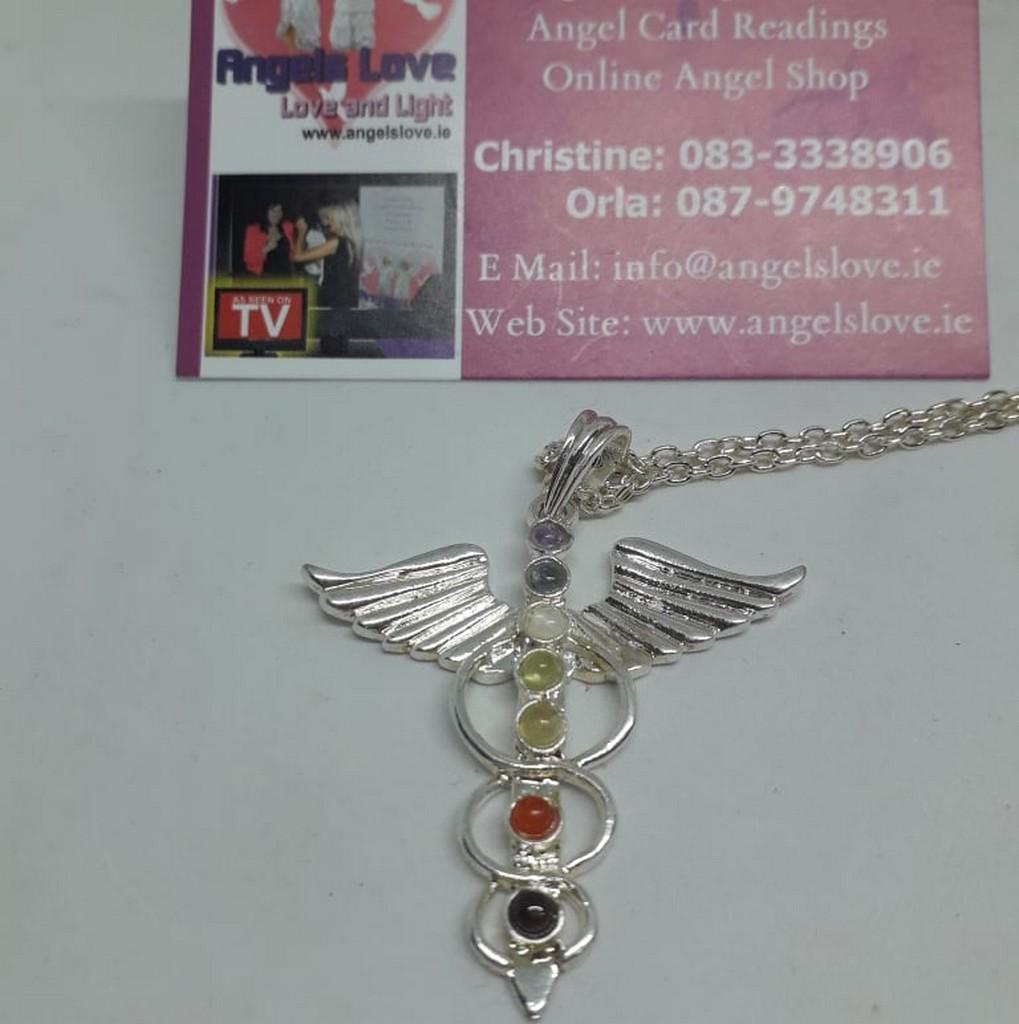 Angel Winged Chakra Balancing Necklace