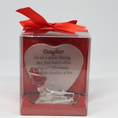 Glass Friendship Plaque Daughter