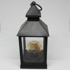 Black Battery Operated Lantern