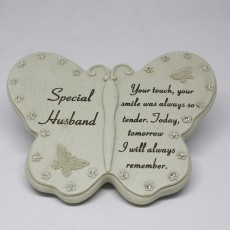 Special Husband Butterfly Grave Ornament