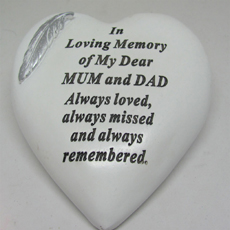 Mum and Dad Grave Heart