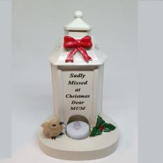 Sadly Missed Christmas Grave Ornament