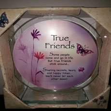 True Friends Glass Plaque