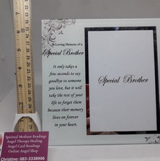 In Loving Memory Of  A Special Brother  Photo Frame