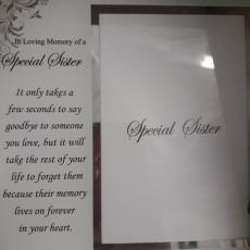 In Loving Memory Special Sister