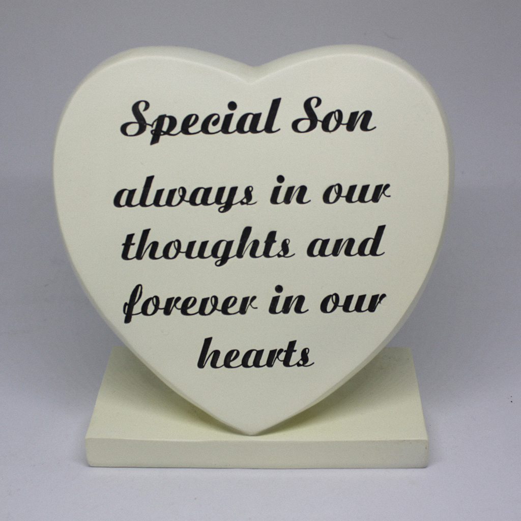 Special Son Grave Heart Large