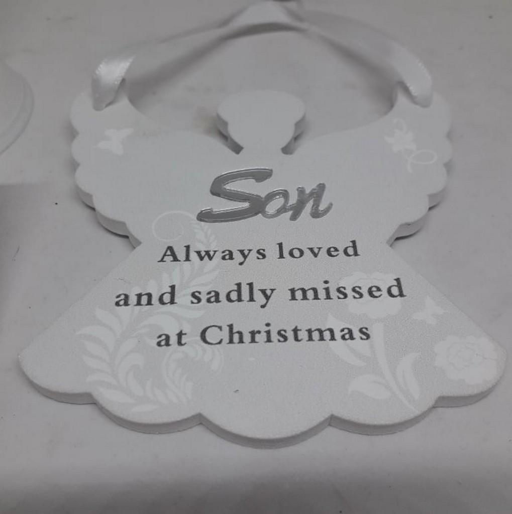 Remembering Son Angel Christmas Tree Hanger