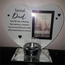 Special Dad Glass Plaque/Photo Frame