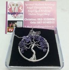 Amathyst Tree Of Life Necklace