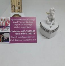 Angel On Heart Urn Box